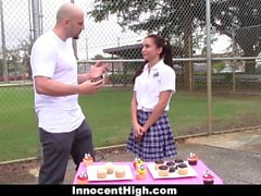InnocentHigh - Pigtailed Brunette Fucked Hard Afterschool