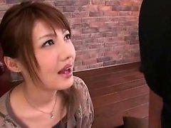 Japanese girl blowjob and cumshot