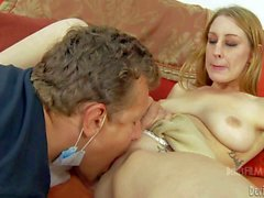 Lizzy London's step-brother is a gynecologist. Young chick asks for