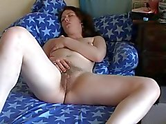 Horny Fat Chubby GF Masturbating her wet hairy pussy