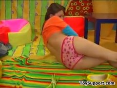 Sweet Teen Strips And Masturbates