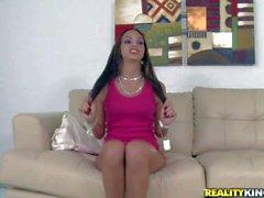 Cute Latina Ariel Teens is proud of her perky tits