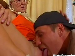 Dirty Stepsister Make Stepbro Eat Her Pussy