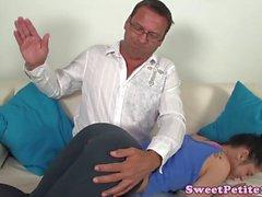 Spanked petite punished by fucked doggystyle