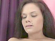 Glamour model cum on big tits