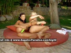 Melanie and Jenny lesbo teen girls toying