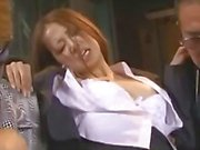 Office Lady Rapped By Gang Getting Mouth And Pussy Fucked In Front Of Boyfriend In The Basement