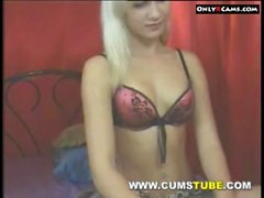 Blonde Chick Naked On Webcam