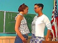 Lesbian teacher fucks her student