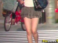 Japanese slut urinating