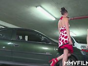 Cassy Young needs some help. This horny girl her car broke