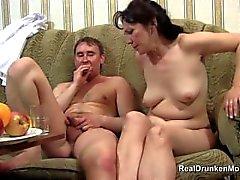 Drunk sex with slutty russian mature