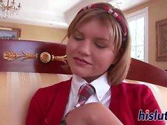 Sexy schoolgirl just wants to taste spunk
