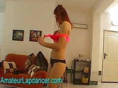 Czech redhead teen does hot lapdance