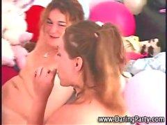 Horny teen lesbian amateurs lick pussy