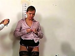 Kinky job interview for young secretary babe