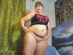 pissing in panties, fat Russian woman)