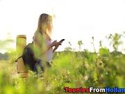 Hiking dutch teen jizzed