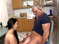 Babe gets tits jizzed