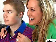 Brandi Love teaches teen a couple how to screw