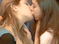 Two lesbian girls having fun