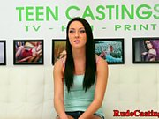 Innocent teen hardfucked at casting