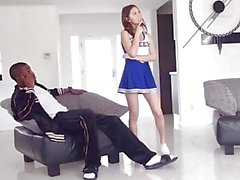 TeensLoveBlackCocks Cute Cheerleader Riley Reid Gets Tight Pussy Stretche