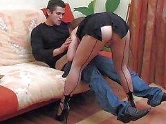 Mature woman young man