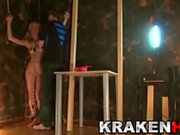 Krakenhot BDSM Casting with a Blonde Teen Caned and spanked