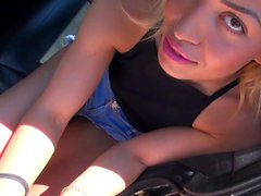 German hitchhiker teen must do anal - she dislike