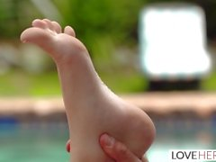 LoveHerFeet - Foot Worshiping Yoga Class With Flexible Teen Student