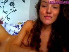 hot brunette fucking her pussy 2 .wmv
