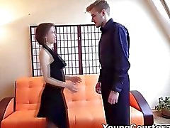 Young Courtesans Teen courtesan knows her job