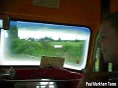 Friendly bus driver fucks passenger