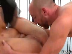 Horny therapist uses pussy muscles to massage a big fat cock