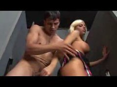 Cheerleader slut fucked in the bathroom