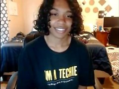 Teen ebony solo webcam