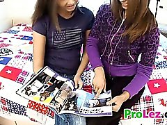 Sweet Lesbian Teens With Their Dildo