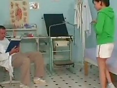 Horny doctor is doing kinky games with a girl