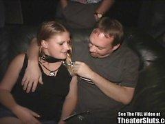 Porn Theater Cum Slut Freak On a Leash!