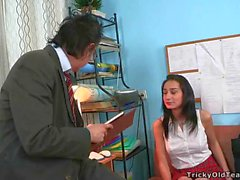 Oral stimulation for a horny teacher