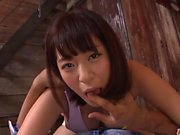 Wakaba Onoue amazing display of amazing POV oral sex