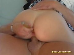 her first anal boss lesson