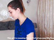 cute teen stuck on her bed.... film