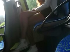 Sexy Teen Legs in the Bus
