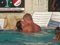 Sex in a public swimming pool