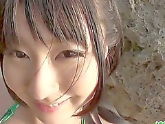 Megumi Haruka young asian hand job and blowjo