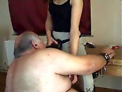 young horsewoman and old slut