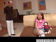 Tasty teenage babysitter playing with herself