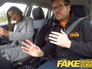 Fake Driving School 18yr black teen filled up by her teacher
